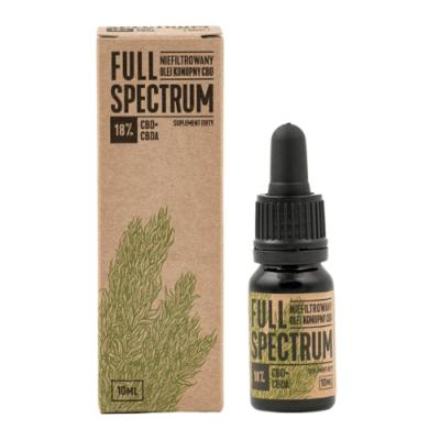 Olejek konopny Full Spectrum CBD+CBDA 18%, 10ml